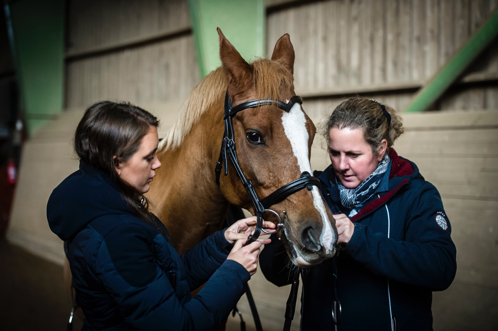 Louise Fagersen from Fager bits, Géraldine Vandevenne from Equibitfit